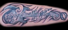 guitar tattoo #music #tattoo