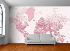World Map Wall Mural #tech #flow #gadget #gift #ideas #cool