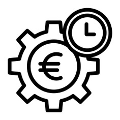 See more icon inspiration related to euro, time and date, business and finance, time is money, business, gear, cogwheel, money, time and clock on Flaticon.
