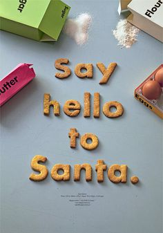 Say Hello To Santa.   Poster on Behance