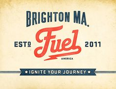 Fuel #lettering #branding #classic #american #identity #diner #typography