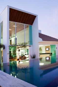 CJWHO ™ (JQ House, Uberlândia, Brazil by Aguirre...) #amazing #design #pool #photography #architecture #luxury