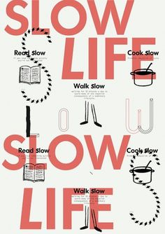 slow life on the Behance Network #illustration #ink #orange #typography