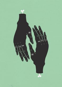 Illustrations Sara Andreasson #skeleton #bone #illustration #hands #drawing