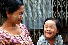 Thanaka a national identity of Myanmar #make #thanaka #people #photography #up #myanmar #burma