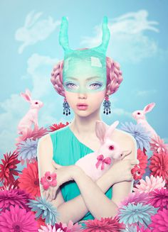 Lost in Wonderland #inspiration #illustration #portrait