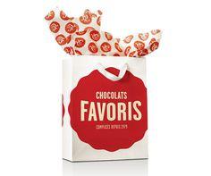 Chocolats Favoris Logo and Packaging #packaging