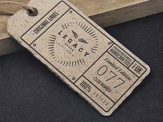 LEGACY // Label tag artwork #logomark #badge #branding #apparel #retro #texture #brand #identity #vintage #logo #trend #style