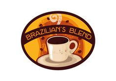 Brazilian's Blend logo #visual #branding #design #graphic #illustration #identity #coffee #logo #brazil