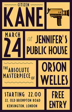 kane #kane #citizen #design #graphic #welles #poster #orson