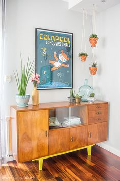 #poster #bear #colargol #vintage #furniture #wood #interior
