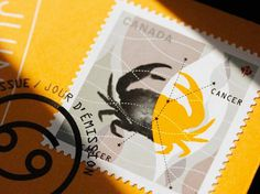 Louis Gagnon #stamp #illustration #crab
