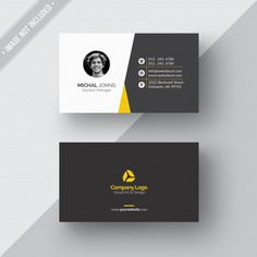 Black and white business card with yellow details Free Psd. See more inspiration related to Business card, Mockup, Business, Card, Texture, Template, Paper, Black, Web, Presentation, Website, White, Yellow, Mock up, Paper texture, Psd, Templates, Website template, Mockups, Up, Close, Web template, Glossy, Realistic, Real, Foil, Web templates, Mock-up, Details, Mock ups, Mock, Left, Psd mockup, Close up, Ups and Coated on Freepik.