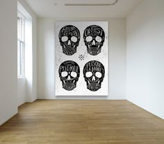 skull wall #skulls #ilustration #quotes