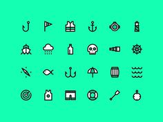 Nautical Icons #icon #picto #symbol #sign