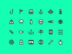 Nautical Icons #icon #picto #symbol #sign