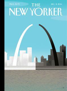 """Cover Story: A """"Broken Arch"""" for Ferguson - The New Yorker #illustration #ferguson"""