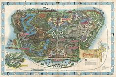 1962 Map of Disneyland #illustration #map #disneyland