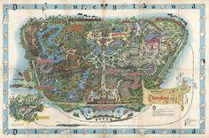 1962 Map of Disneyland #illustration #map #disneyland