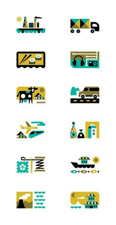 Japanese Business Sectors Ty Wilkins #illustration #ty #icons #wilkins