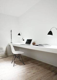 Workspace. Copenhagen Penthouse I by Norm.Architects. #workspace #minimal #normarchitects