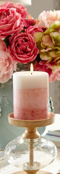 Spring Decor - pastel scented candle