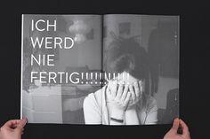 Gestalterkrankheiten on the Behance Network / Bench.li #spread #book #magazine #typography