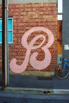 B Lettering #paint #lettering #letters #wall