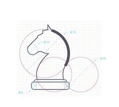 EC-CLOUDS Infographic on Behance #chess #horse #construction #icon #icons #radius #grid #circle