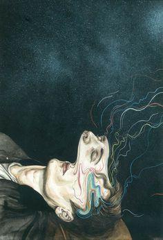 Share The Pleasure #illustration #watercolor #psychadelic