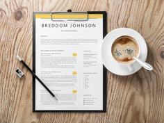 Breddom Johnson Resume - Free Two Pages Resume Template with Cover Letter and Reference Page