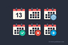 Flat calendar psd icon set Free Psd. See more inspiration related to Calendar, Design, Icon, Time, Event, Flat, Flat design, Plan, Schedule, Psd, Calendar icon, Planning, Flat icon, Icon set, Alert, Time icon, Add, Reminder, Set, Horizontal and Appointment on Freepik.