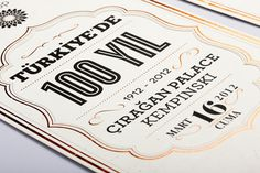 BP Turkey / 100 Years in Turkey by Motto #print #typography