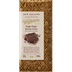 #whittakers #chocolate #cocoa #packaging #wrapper #emboss #pattern #food #serif #gold #typography