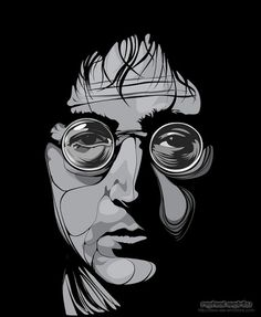 John Lennon by respiritu | Shadowness #illustration #john #lennon