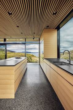Concrete and Wood Summer House in South Iceland 11