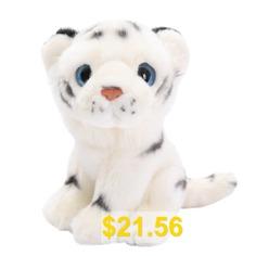 Bengal #White #7.5 #Inch #Large #Stuffed #Animal #Plush #Cat #- #WHITE
