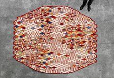 Tapis LOSANGES par Ronan & Erwan Bouroullec|REFLEXDECO #diamonds #rug #blanket