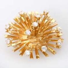 Brooch with 11 brilliant-cut diamonds