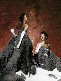 #collage #red #vintage #surreal
