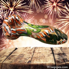 Green, Orange, and Black wholesale glass pipe for bulk distribution. We are very pleased to announce the release of this high quality piece of glass work.