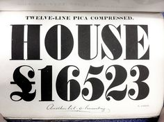 HOUSE £16523 / Another bit o humbug by Nick Sherman #typography
