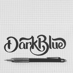 RAWZ #ink #white #type #drawing #black #letter #and #blue #dark #typography