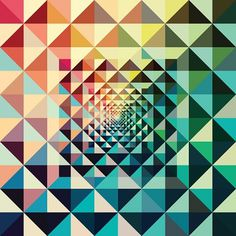 07-14-2010 - andy gilmore #gilmore #andy #pattern #triangles #colour