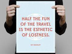Bradbury_travel_med #overlay #poster #typography