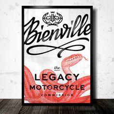 Bienville | Erik Marinovich #lettering #script #snake