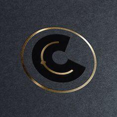 C logomark #logo #initial #c #foil