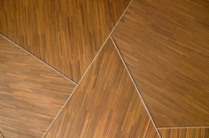 A triangle shaped wooden background texture pattern at the Shanghai Performing Arts Center