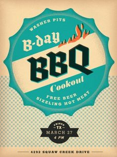 All sizes | bday BBQ | Flickr - Photo Sharing! #wallace #dustin #poster #bbq