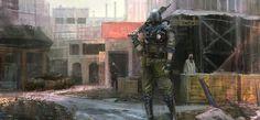 Hunter standing #urban